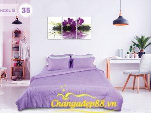 Bộ Chăn Ga MARRIGATE TENCEL S35- Hoa Violet