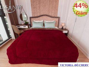 Chăn Lông Cừu Victoria – Đỏ Cherry