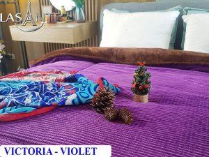 Chăn Lông Cừu Pháp Lasante – Victoria Tím Violet