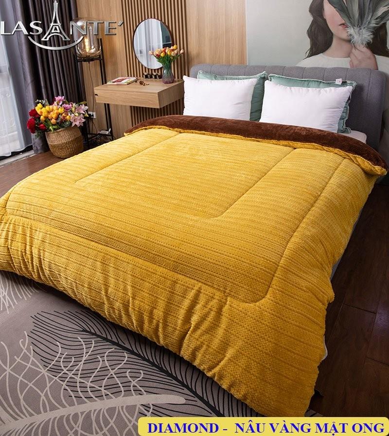 Chăn lông cừu Lasante vàng mật ong