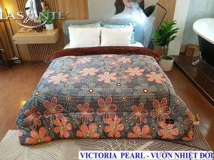 Chăn Lông Cừu Lasante – Victoria Pearl Hồng Cam