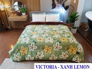 Chăn Lông Cừu Pháp Lasante – Victoria Pearl Xanh Lemon